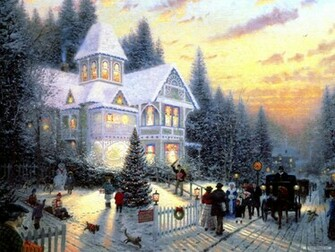 holiday wallpaperchristmas eve painting wallpaper1920x1440free