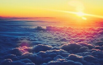 1440x900 Sunrise Above the Clouds desktop PC and Mac wallpaper