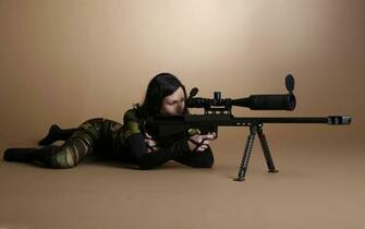 Babe Sniper Full HD Wallpaper and Background Image