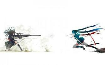 blade sniper rifle anime girls 1920x1200 wallpaper Anime Anime Girl HD