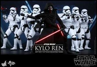 Hot Toys THE FORCE AWAKENS Kylo Ren and Stormtrooper Action Figures