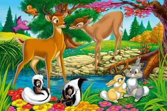 10 Disney Animal Bambi Characters Wallpaper