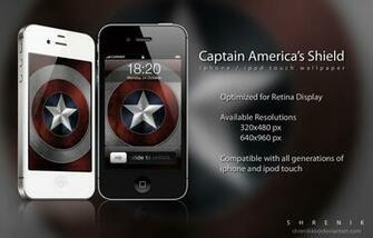 Shield Iphone Wallpaper Captain americas shield by