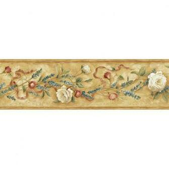 roth 6 18 Brown Floral Trail Prepasted Wallpaper Border at Lowescom