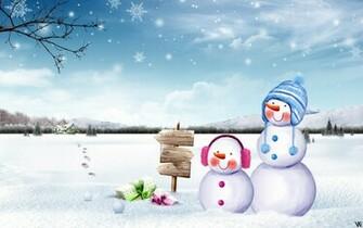 schattig sneeuwmannen wallpaper   ForWallpapercom