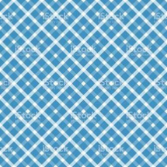 Seamless Blue White Checkered Oktoberfest Background Stock