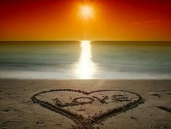 Beach Love Sunset   the sand love sunset at beach   Beach Love Sunset