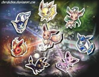 Eevee Evolutions by cherubchan