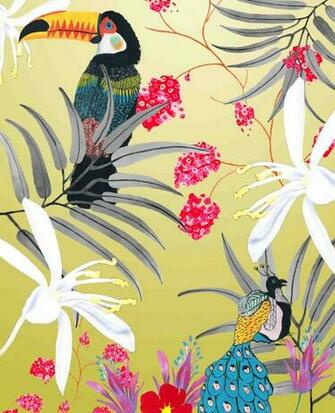 Coghlan Textiles Sample Development Ideas  Tropical Wallpaper