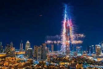 Burj Khalifa New Year Fireworks Desktop Wallpapers