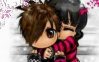 Pics Photos   Emo Couple Love Wallpaper