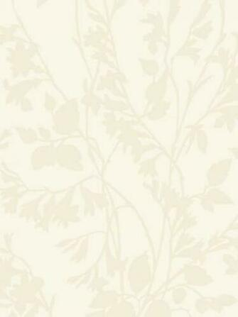 Off White Silhouette Vine Wallpaper   Rustic Country Primitive
