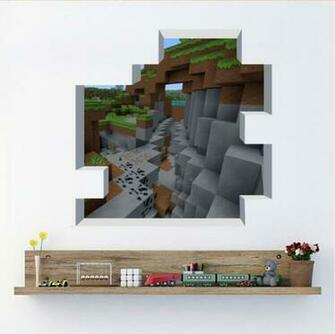 Newest Minecraft Wall Stickers Wallpaper Kids Room Decal Minecraft