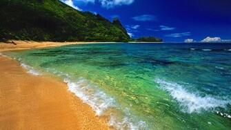 Beach Desktop Backgrounds and Wallpaper   Tunnels Beach Kauai Hawaii