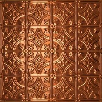 0604 Solid Copper Ceiling Tile   2ft x 2ft  wallpaper