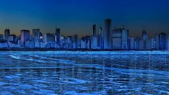 Download Wallpaper Panorama of Chicago Illinois USA