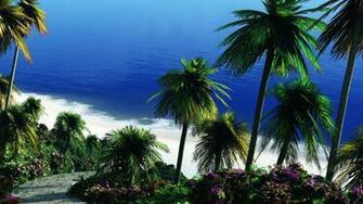 Tropical beach wallpaper 6869