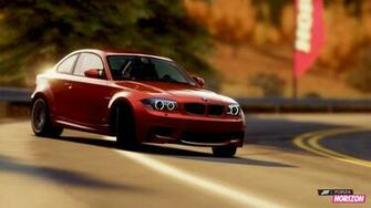 Blue BMW 1M coupe Forza Horizon digital wallpaper Forza Horizon