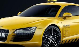 Wallpaper audi gelb Taxi Audi R8 Autos groe 800x480 auf dem