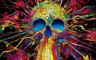 psychedelic skull hd backgrounds hd wallpaper background desktop