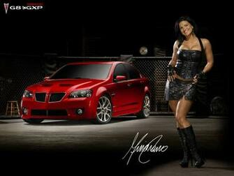 Download High quality Red Pontiac G8 GXP Girls Cars Wallpaper