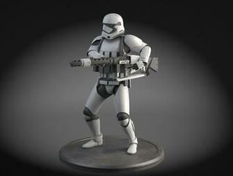 Star Wars First Order Stormtrooper Heavy 3D Model rigged max obj