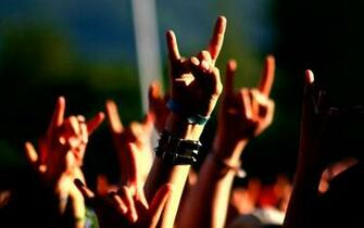 Music Concert Metal Horns Hand Signs Wide 69116 HD Wallpaper Res