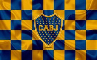 Download wallpapers Boca Juniors 4k logo creative art blue