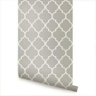 Moroccan Warm Grey Peel Stick Fabric Wallpaper by AccentuWall