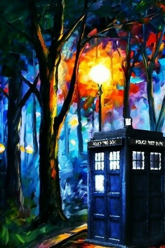 tardis leonid afremov doctor who 1915x1079 wallpaper Art HD Wallpaper