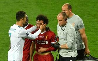 Sergio Ramos sends good well wishes to Mohamed Salah after injured