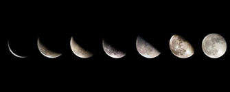 Perfect for astrologists this dual desktop wallpaper shows the lunar