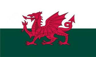1024x615px Welsh Flag Wallpaper