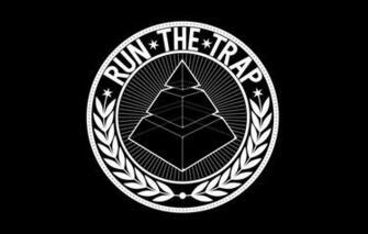 Wallpaper Minimalism White Pyramid Wallpaper Black Logo