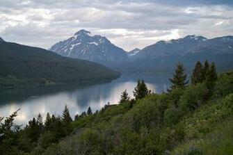 Two medicine lake glacier national park lake mountains wallpapers