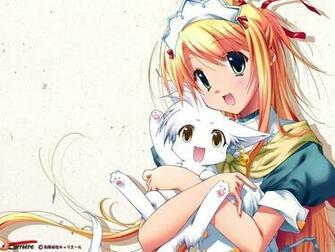 anime girl with catkitten   Star Light Wallpaper 24661414