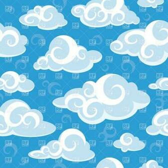Cloudy pattern   curly wallpaper 37269 download royalty free vector