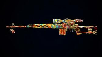 Colorful Gun Design Wallpaper 16696 Wallpaper Cool
