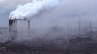 Air Pollution From Industrial Plants Large Plant on the