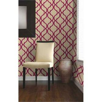 Dl30618 Red Moroccan Trellis   Harira   Decorline Wallpaper