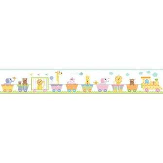 York Wallcoverings Peek A Boo Circus Train Wallpaper Border