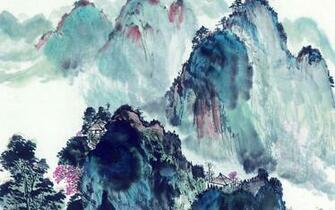 Chinese style landscapes ink wallpaper 6 Paintings Wallpapers