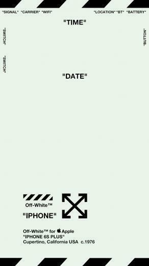 Off White Lock Screen Wallpaper ver 1 MINT GREEN Specifically