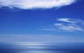 Blue sky and ocean Widescreen Wallpaper   4661