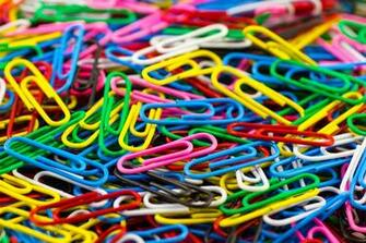 Selective photograph of paper clips HD wallpaper Wallpaper Flare