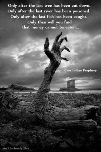Cree Indian prophecy Quotes Zombie wallpaper Gothic wallpaper