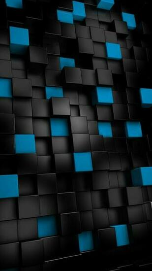Abstract black cubes   Best htc one wallpapers and