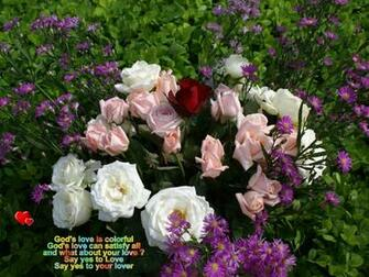 god s love is colorful god s love can satisfy all and what about your