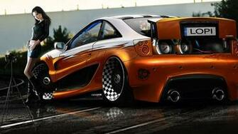 Download Toyota Celica Tuning Girl Cars Car Auto WallpaperWith