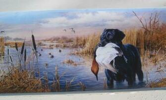Labrador Retriever Dogs Duck Hunting Wallpaper Border 6 eBay